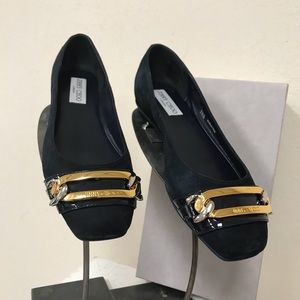 Jimmy Choo Glimpse Flats In Navy